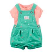 Carter's® 2-pc. Top and Shortalls Set - Baby Girls newborn-24m