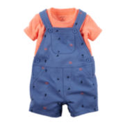 Carter's® Shortalls and Short-Sleeve Shirt Set - Baby Boys newborn-24m