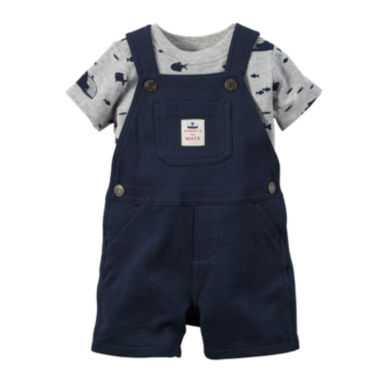jcpenney.com | Carter's® 2-pc. Shortalls and Short-Sleeve Shirt Set - Baby Boys newborn-24m