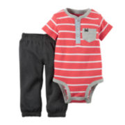 Carter's® Short-Sleeve Bodysuit and Pant Set - Baby Boys newborn-24m