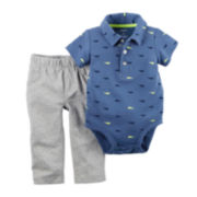 Carter's® Short-Sleeve Bodysuit and Pants Set – Baby Boys newborn-24m