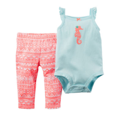 jcpenney.com | Carter's® Sleeveless Bodysuit and Pants Set - Baby Girls newborn-24m