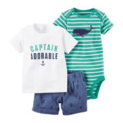 Carter's® 3-pc. Short-Sleeve Tee and Shorts Set - Baby Boys newborn-24m