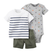 Carter's® 3-pc. Bodysuit and Shorts - Baby Boys newborn-24m