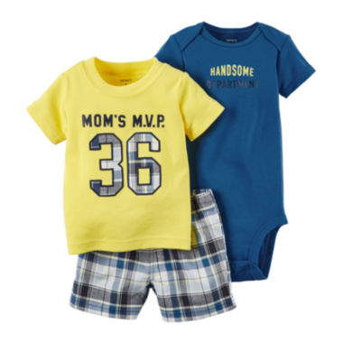 jcpenney.com | Carter's® 3-pc. Bodysuit and Shorts Set - Baby Boys newborn-24m