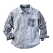Carter's® Long-Sleeve Plaid Button-Front Shirt - Toddler Boys 2t-5t