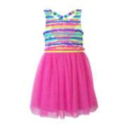Lilt Sleeveless Heart Applique Dress - Preschool Girls 4-6x