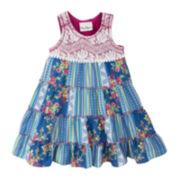 Rare Editions Sleeveless Patchwork Dress - Preschool Girls 4-6x