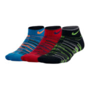 Nike® 3-pk. Graphic Low-Cut Crew Socks - Boys 7-11