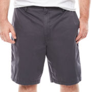 Claiborne® Flat-Front Cotton Slider Shorts - Big & Tall