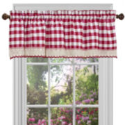 Buffalo Check Rod-Pocket Valance