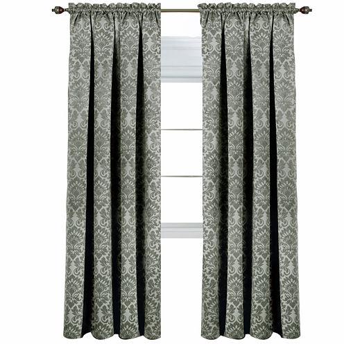 Sutton Blackout Rod-Pocket Curtain Panel