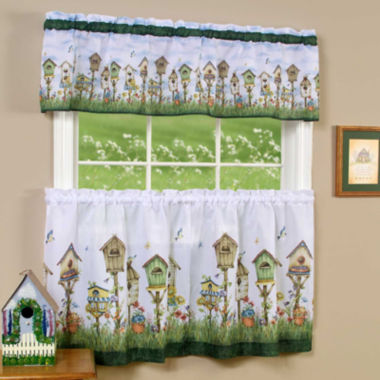 jcpenney.com | Home Sweet Home Print Rod-Pocket Window Tier and Valance Set