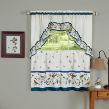 jcpenney.com | Lovebirds Rod-Pocket Window Tier and Swag Valance Set