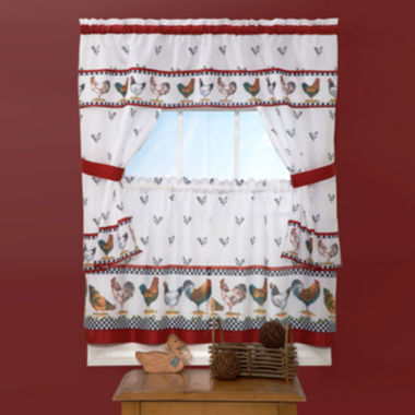 jcpenney.com | Top of the Morning Cottage Rod-Pocket Window Tiers & Tailored Topper Set
