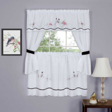 jcpenney.com | Arden Embellished Cottage Window Tier and Topper Set