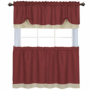 Darcy Rod-Pocket Tier Pair or Valance Window Treatments
