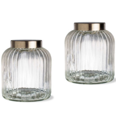 jcpenney.com | Tag Vintage 2-pc. Medium Glass Canister Set