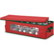 Whitmor Red & Green Ornament Storage Box