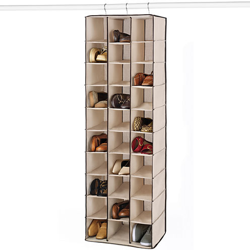 Whitmor Hanging 30-Section Shoe Organizer