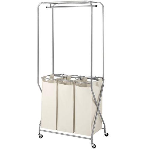 Whitmor EasyLift Triple Basket Laundry Center