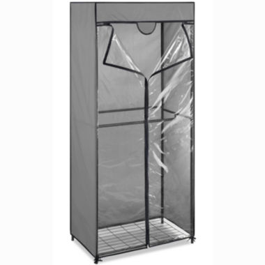 jcpenney.com | Whitmor Gray Steel Double Rod Closet with Cover