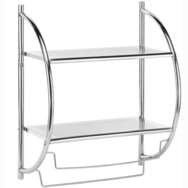 jcpenney.com | Whitmor Chrome Shelf & Towel Wall Rack