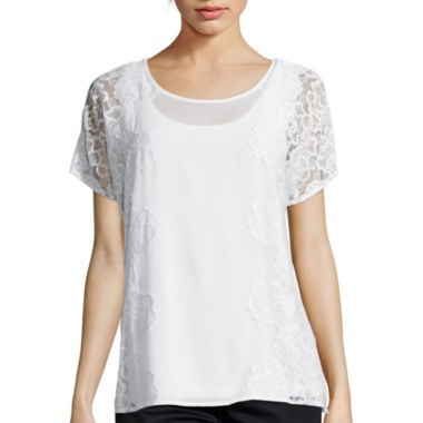 jcpenney.com | By Artisan Short-Sleeve Lace Top