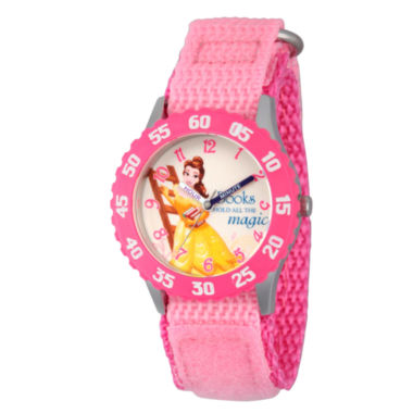jcpenney.com | Disney Beauty and the Beast Girls Pink Strap Watch-Wds000060