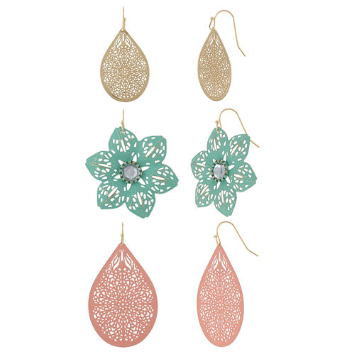 Decree® 3-pr. Sprayed Drop Earrings Set