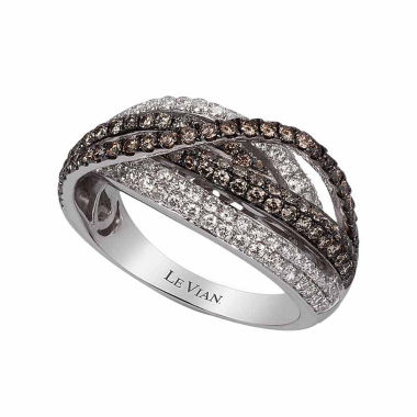 jcpenney.com | Le Vian Womens 1 3/8 CT. T.W. Champagne Diamond 14K Gold Crossover Ring