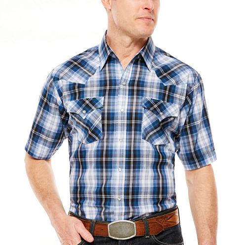 Ely Cattleman Short Sleeve Snap Plaid - Big & Tall