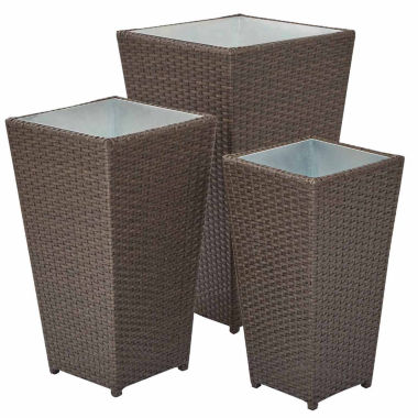 jcpenney.com | Small Medium And Large Rattan 3-pc. Outdoor Planter