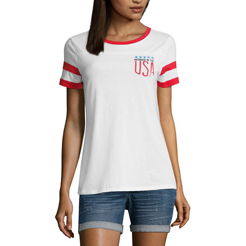 "Arizona ""Mermaid in the USA"" Graphic T-Shirt- Juniors"