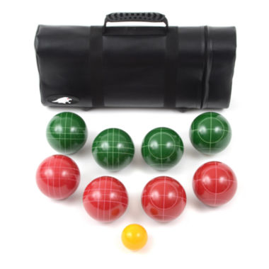 jcpenney.com | Lion Sports Bocce Ball Set 107 Mm  Ball with TapeMsr & Leather Tube Carry Bag