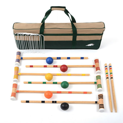 """Lion Sports 28"""" Croquet Set 6 Player  with Carry Bag"""""""