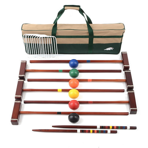 """Lion Sports 33"""" Croquet Set 6 Player with Carry Bag"""""""