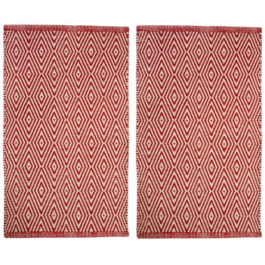 jcpenney.com | Chesapeake Merchandising Portland Diamond Rectangular Rug Set