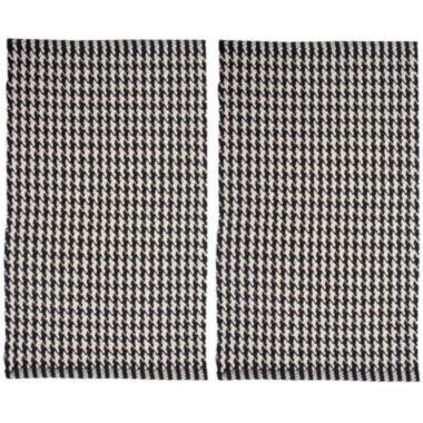 jcpenney.com | Chesapeake Merchandising Portland Houndstooth Rectangular Rug Set