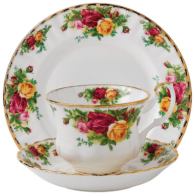 jcpenney.com | Royal Albert Old Country Roses 3-pc. Cup and Saucer Set