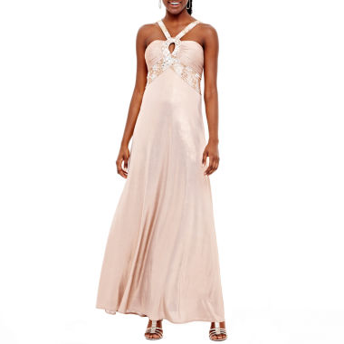 jcpenney.com | Long Beaded Keyhole Dress