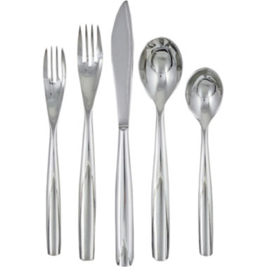 jcpenney.com | Ginkgo Charlie 20-pc. 18/10 Stainless Steel Flatware Set