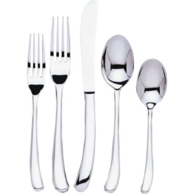 jcpenney.com | Ginkgo Sea Drift 20-pc. 18/10 Stainless Steel Flatware Set