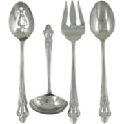 Ginkgo Fleur De Lis 4-pc. 18/10 Stainless Steel Serving Set