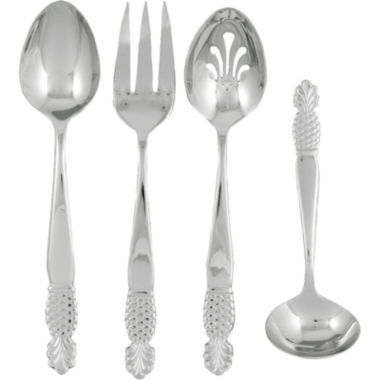 jcpenney.com | Ginkgo Pineapple 4-pc. 18/10 Stainless Steel Serving Set