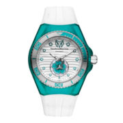 TechnoMarine® Cruise Beach Womens Turquoise Case Silicone Strap Watch