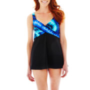 Robby Len by Longitude Wrap-Front 1-Piece Swimdress