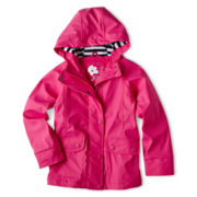 Joe Fresh Fleece-Lined Rain Coat - Girls 4-14