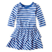 Joe Fresh Striped ¾-Sleeve Dress - Girls 1t-5t