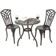 Antigua 3-pc. Outdoor Cast Aluminum Bistro Set